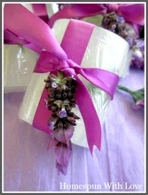 Homespun With Love: Homemade Lavender Soap for Mothers Day Gift Giving