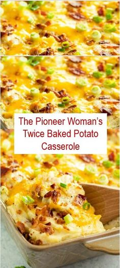 Here's The Pioneer Woman's Twice Baked Potato Casserole Recipe. This Recipe is favorite and easy to make it, delicious and healthy. ThePioneerWoman's Twice Baked Potato Casserole Recipe ThePioneerWoman'sTwiceBakedPotatoCasserole 402157441726929837 Easy Twice Baked Potatoes, Twice Baked Potatoes Casserole, Potatoe Casserole Recipes, Casserole Dishes, Cheesy Potatoes, Loaded Potato Casserole, Party Potatoes, Vegetable Casserole, Potato Meals