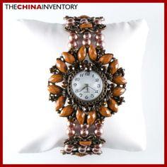 WOMEN`S BROWN FASHION BRACELET BANGLE WATCH W0136 Fashion Bracelets, Bangle Bracelets, Bracelet Watch, Bangles, Brown Fashion, Watches, Accessories, Jewelry, Women