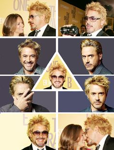 Blond Robert Downey Jr. is very cute.  (And fluffy.)