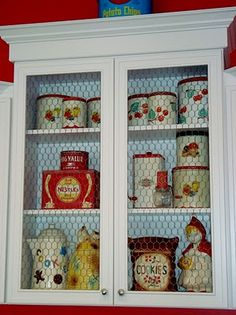 Home Design: this cabinet is too cute! I like the see through panel