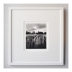Excited to share the latest addition to my #etsy shop: Cityscape on the Hudson River. New York. Gelatin Silver Print Photograph. | Signed and Framed