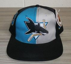 San jose sharks - #vintage 90's nhl ice #hockey #baseball snapback cap - new,  View more on the LINK: 	http://www.zeppy.io/product/gb/2/182316113829/