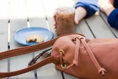 DIY Faux Leather Bucket Bag