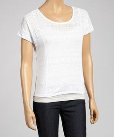 Love this White Tribal Burnout Top on #zulily! #zulilyfinds