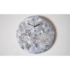 The world on your wall - Aluminium wall clock handmade in Italy