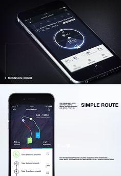 Simple App for Skiing on App Design Served Ios Design, Mobile Ui Design, Car Ui, Sports App, Simple App, User Experience Design, Screen Design, Ui Inspiration, Creative Industries