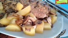 Come cucinare il polpettone prosciutto e formaggio con contorno di patate e funghi al Varoma nel Bimby: una bontà!