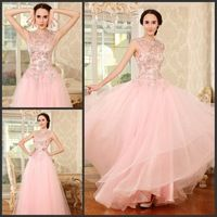 2015 New Arrival Star Fashionable Ultimate Luxury Beading Crystal Formal Dress Scoop Neck Sleeveless Sexy Evening Dress