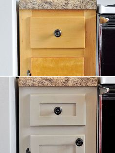 Update your cabinets with added pieces of molding and trim. - 27 Easy Remodeling Projects That Will Completely Transform Your Home - Easy Diy Home Decor Home Improvement Projects, Home Projects, Home Renovation, Home Remodeling, Kitchen Remodeling, Cheap Remodeling Ideas, Armoires Diy, Diy Casa, Moldings And Trim
