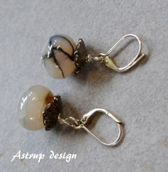 """Exclusive earrings """"Blossom"""" and Agate from Lisa Astrup Art & craft by DaWanda.com"""