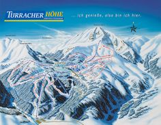 Map Winter Holidays, Wonderful Places, Did You Know, Mount Everest, Skiing, Villa, Map, Mountains, Travel