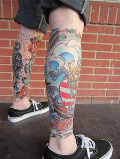 Mike's surf fink leg.
