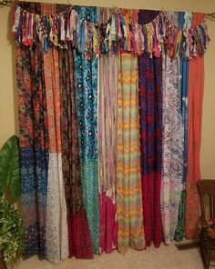 Boho Curtains Scarf Curtains Boho Curtains Gypsy Curtains Hippie Curtains Bohemian Curtains Shabby Chic