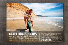 Engagement Photo Wedding Invitation - Feel Good Wedding Invitations