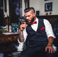 """ with let the tats fool you, gents come in all aspects as you can see from Mode Hipster, Estilo Hipster, Grease Hairstyles, Slick Hairstyles, Sexy Beard, Beard Love, Beard Images, Mode Rockabilly, Brylcreem"