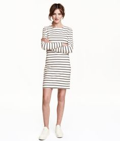 Check this out! Short dress in thick jersey with long sleeves. Unlined. - Visit hm.com to see more.