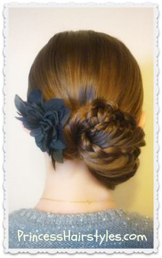 Prom hairstyle, triple braid updo