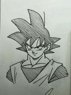 Anime Drawings Sketches, Marvel Drawings, Anime Sketch, Cartoon Drawings, Goku Drawing, Ball Drawing, Manga Girl, Anime Girls, Goku Manga