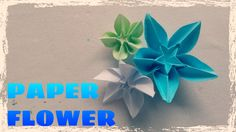 Origami Easy - Origami Flower Tutorial - YouTube