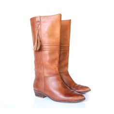 vintage brown leather boots