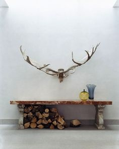 I love antlers in houses. Come by through natural causes of course...and also not attached to anything fuzzy or stuffed.