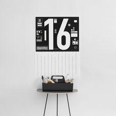 NEWS! We launch this new calendar poster for 2016 today. Shop it now on http://typehype.eu/calendar-DIN #calendar #typehypeberlin #2016