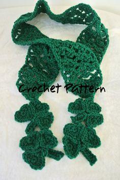 St. Patrick's Day Scarf Crochet Pattern by KimberShooksDesigns
