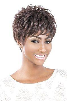 Motown Tress Wig - Shamari Sassy Hair, Be A Nice Human, Motown, Synthetic Wigs, Color Show, Curls, Short Hair Styles, Fiber, Hair Cuts