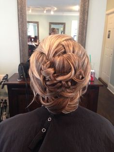 Wedding hair- twist and braid updo