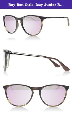 Ray-Ban Girls Izzy Junior Round Sunglasses, Havana Rubber 70064v, 50 mm. Up-to-date kids love to play with the original style of ray-ban icons. Icon-inspired shapes and lens colors, modern finishes and unique designs mix it up for trend setters in the making. This unisex rectangular nylon fiber shape features fine frontals and bold shaped temples.