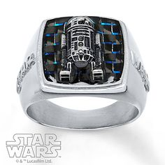 This R2-D2 men's ring is the perfect Star Wars accessory for your favorite Star Wars fan.