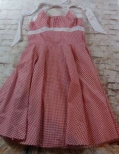PinUp Couture Red & White Gingham Daisy Dress Plus Size 2X EUC VLV Retro XL PUG #PinupCouture #Sundress #Casual