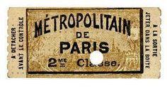 Vieux ticket métro parisien