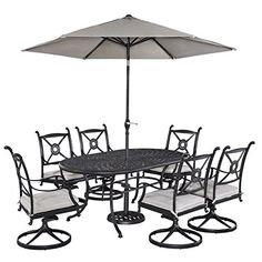 Home Styles 55693356 Athens 7 Piece Dining Set Oval Dining Table Six Swivel Chairs and Umbrella >>> Find out more about the great product at the image link.