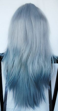 Spring SALE ARCTIC FOX wig // Ombre Silver Blue by MissVioletLace, $83.20