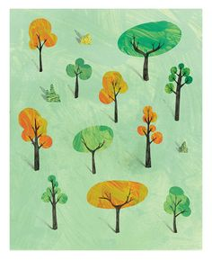 Trees - Giclee Print by Bett Norris 40x50cm