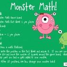"""This+FUN+and+ENGAGING+packet+includes+a+game+board+with+monster+""""body+parts""""+drawn+on+it.+As+students+answer+math+fact+questions,+they+roll+a+dice+..."""