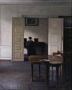 :Vilhelm Hammershøi - Interior with Ida Playing the Piano -