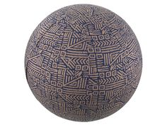 55cm Tribal Navy Balance Ball Cover Exercise by GlobalGrooveLife