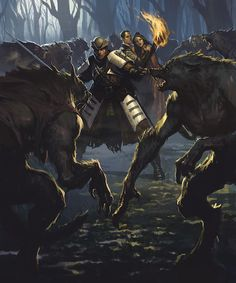 Gothic horror comes to Magic: The Gathering's new set, Innistrad Dark Fantasy, Fantasy Rpg, Medieval Fantasy, Fantasy Artwork, Fantasy World, Werewolf Hunter, Werewolf Art, Gothic Horror, Twilight Princess