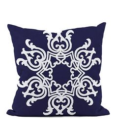 Red Barrel Studio Busselton Throw Pillow Size: H x W, Color: Spring Navy Navy Blue Throw Pillows, Modern Throw Pillows, Decorative Throw Pillows, Floral Motif, Home Decor Accessories, Floor Pillows, Exotic, Tapestry, Prints