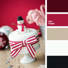 beige, black color, brown color, christmas palette, New Year color schemes, New Year colors, New Year palette, red color, shades of red, white color.