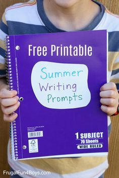 40 Printable Writing Prompts for 3rd, 4th, and 5th Graders - Includes narrative, descriptive, how-to, and persuasive writing prompts.
