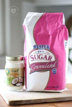 DIY Sugar Scrub Ingr