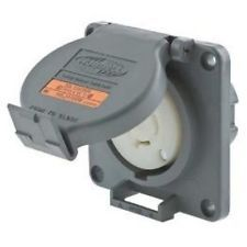 Hubbell Wiring Systems HBL2410SW Twist-Lock Watertight Safety Shroud Receptacle,