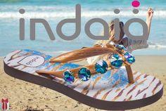 Faltam apenas 07 DIAS para você poder arrasar com a nova coleção da Indaiá por aí!  #adoro #sandálias #sandáliasindaiá #chic #pedras #pedraria #azul #blue #beach #summer