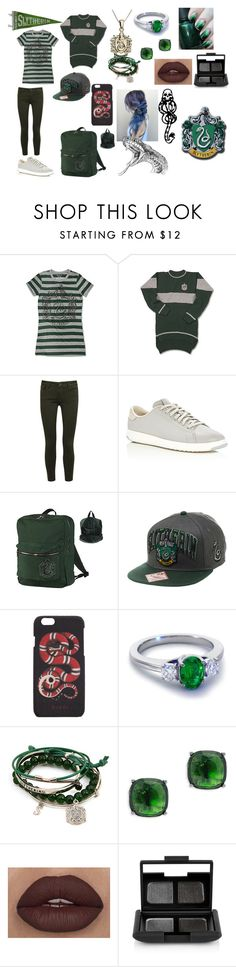 """""""Slytherin"""" by countrycowgirl-1718 on Polyvore featuring DL1961 Premium Denim, Cole Haan, Gucci, Blue Nile, Lauren Ralph Lauren, NARS Cosmetics and mark."""