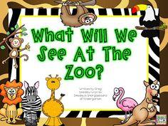 FREE!  Zoo emergent reader!  A Kindergarten Smorgasboard Schedulin Sunday!