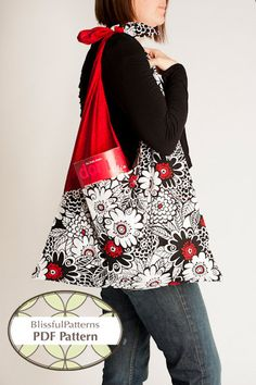 Criss Cross Bag Easy PDF Sewing Pattern  By by BLISSFULpatterns